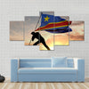 Democratic republic of Congo flag Multi panel canvas wall art