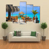 A Cafe On The Beach, Maldives, Multi Panel Canvas Wall Art