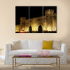 Old town gate in Baku Azerbaijan by night Multi Panel Canvas Wall Art