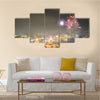 Fireworks in Baku, Azerbaijan Multi panel canvas wall art