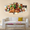 Kung Pao chicken over rice  Chinese food Multi Panel Canvas Wall Art