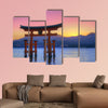 The Floating Otorii gate at Miyajima, Japan multi panel canvas wall art