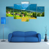 Beautiful summer Alpine lake Hallstatter See view (Austria) multi panel canvas wall art