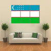 Simple flag of Uzbekistan Correct size, proportion, colors Multi panel canvas wall art