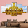 Amazing Thailand, Golden sanctuary Architecture  multi panel canvas wall art