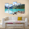Beautiful Lake Louise located in the Banff National Park multi panel canvas wall art