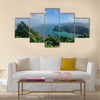 Beautiful Maracas Lookout Point with lush greenery and ocean on the Caribbean island of Trinidad Multi panel canvas wall art