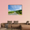 Road in mountain, Ukranian Carpathians multi panel canvas wall art