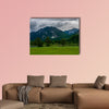 Castle Called Neuschwanstein with much trees and mountains wall art