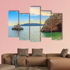 Adriatic Sea coastline near Budva city in Montenegro  Multi panel canvas wall art