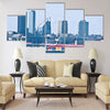 Great view of the cityscape of Tallinn from the sea Multi panel canvas wall art