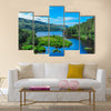 Amazing landscape with creeks and lakes in the Scottish Highlands multi panel canvas wall art