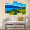 The blue water of Loch Ness in the Scotland multi panel canvas wall art