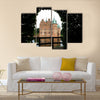 Egeskov castle slot landmark fairy tale castle in Funen Denmark view from the garden Multi Panel Canvas Wall Art