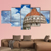Pisa Baptistry medieval dome with clouds and city ancient walls multi panel canvas wall art