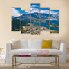 Queenstown downtown with the remarkable range Multi panel canvas wall art