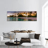 Tropical beach from wooden water villa, Punta Cana panoramic canvas wall art
