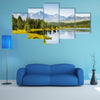 A Beautiful lake in the mountains, in the Altai Republic, Siberia, Russia Multi Panel Canvas Wall Art