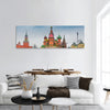 Moscow Red Square Kremlin towers , Saint Basil's cathedral panoramic canvas wall art