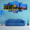Landscape night view of Qingjiang Pu building in Huaia Multi Panel Canvas Wall Art