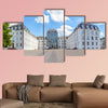 Panoramic outside view to castle in Saarbruecken under blue sky  wall art