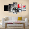 Car in a car wash Multi panel canvas wall art