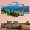 View from Mt. Harderkulm in Switzerland in summer multi panel canvas wall art