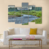 Cold clear stream in summer Multi Panel Canvas Wall Art