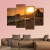 Beautiful Sunset at Copacabana Beach in Rio de Janeiro multi panel canvas wall art