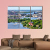 Aerial view of famous Gamla Stan, the Old Town, Sweden multi panel canvas wall art
