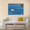 Amazing view of Stockholm archipelago at sunny summer weekend canvas wall art