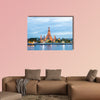 A big Asia city by night to the sunrise multi panel canvas wall art