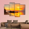 Tropical colorful sunset at the tropical beach. Thailand Multi panel canvas wall art