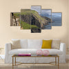 Scenic view of coast of Mykines Multi Panel Canvas Wall Art