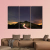 Amazing starry night accompany with a metor multi panel canvas wall art