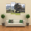 Uk Aircrafts Troops Multi Panel Canvas Wall Art