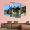 The medieval golubac fortress on the Danube River in the Serbia multi panel canvas wall art