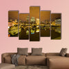 View of Puerto Madero in Buenos Aires multi panel canvas wall art