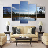 Swamp Viru raba in Estonia.The nature of Estonia Multi panel canvas wall art