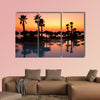 Sunset in a tropical paradise multi panel canvas wall art