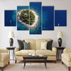Island Galesnik from air Multi panel canvas wall art