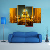Glorious Statue Of A Buddhist In Thailand Multi Panel Canvas Wall Art