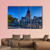 Historical market place in Lennep multi panel canvas wall art