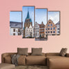 Historical market square with beautiful houses, Warendorf, wall art