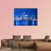 Clouds at financial district multi panel canvas wall art