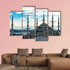 Sunset over The Blue Mosque, (Sultanahmet Camii), Istanbul, Turkey multi panel canvas wall art