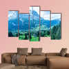 Grindelwald village in Switzerland view from cable car multi panel canvas wall art