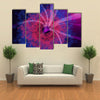 Space Concept of Nebula and Black Hole Suctioning the Light Multi Panel Canvas Wall Art