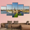 Aerial panoramic top view of Riddarholmen district in Stockholm wall art