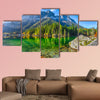 Fantastic autumn sunny day on Hintersee Lake multi panel canvas wall art